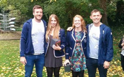 From left to right: Alan Sinclair, Millie Perrin, Ellie Darlington and Jack Beaumont