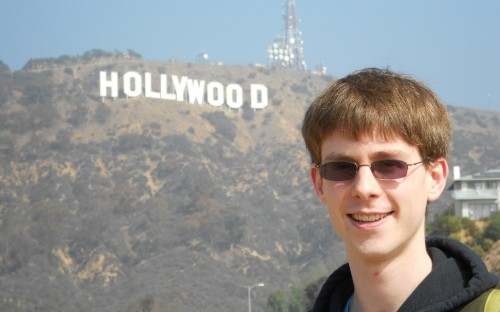 Beau enjoying the sun in Hollywood