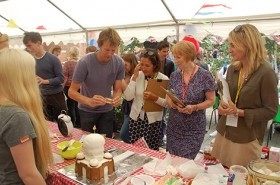 The judges at the 2016 Hills Road Bake Off including guest judge Ian Cumming