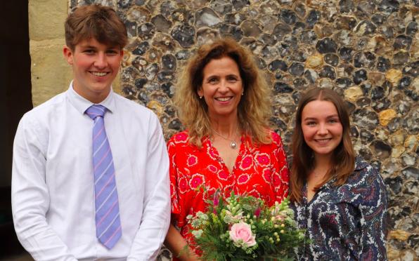 Debs Treyer-Evans pictured with the 2021 Head's of School