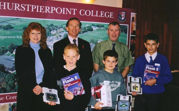 Richard Hurley (top right) at an ICT Masterclass 2001