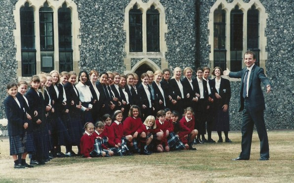 The photograph of the first cohort of girls in 1995.