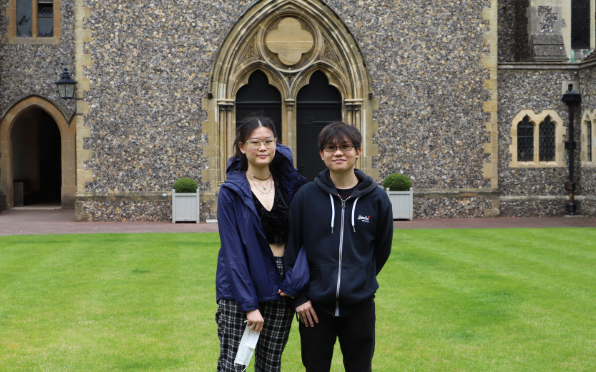 Gene Wong and his partner during a recent visit to Hurst