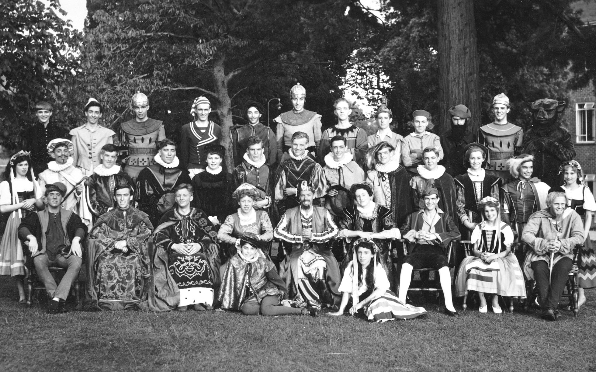 """The cast from """"A Winter's Tale"""" June 1959"""