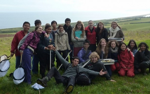 A happy group of Grade 12 scientists in Devon.