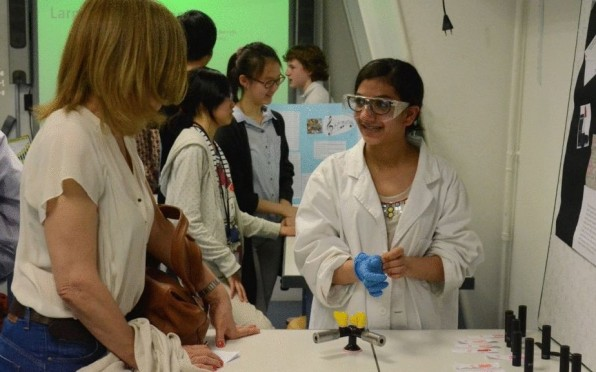 Grade 8 Science Fair took place in the science building on rue Chardin.