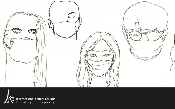 One-line self portraits created by our Grade 10 students