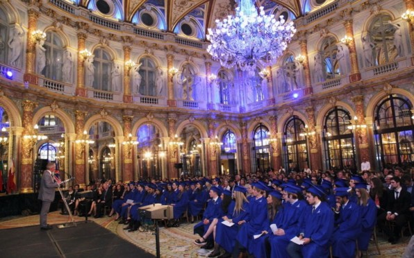 The Graduation Ceremony of the Class of 2015 at the Hotel Intercontinental Le Grand, Paris.