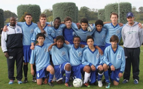 Boys Football (Soccer) Team at a Tournament in Verona
