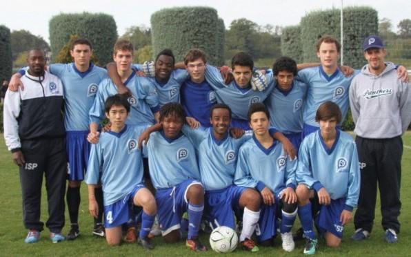 Boys Football (Soccer) Team at a Tournament in Verona