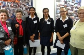 Sonia (left) and Janet ( far right) with Y9 girls.