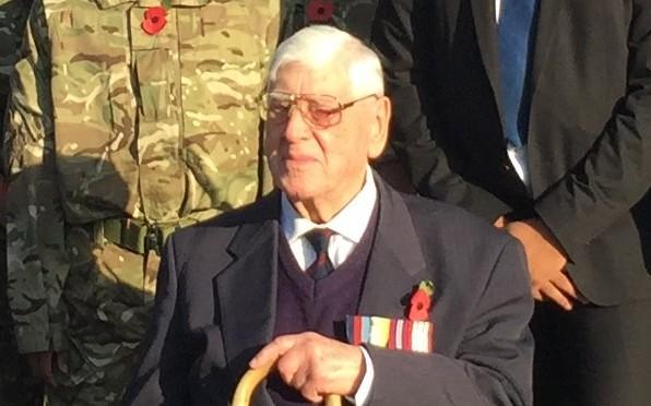 Geoffrey Lancashire at Remembrance in John Lyon School 2016