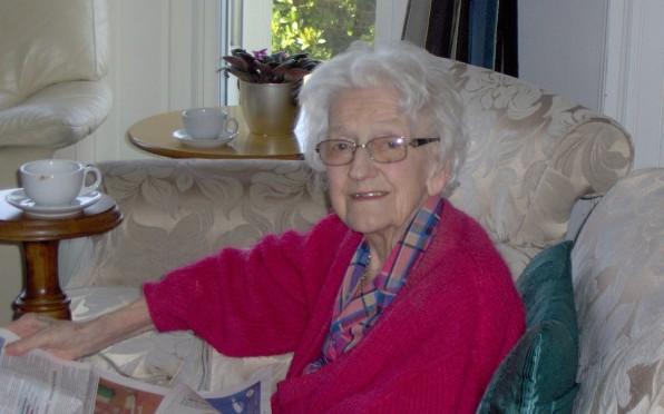 Margaret Palmer enjoying her holiday in 2018