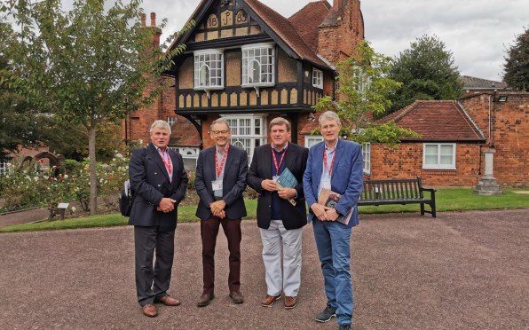 Anthony Bannard-Smith, John Connor, Gordon Lindsay and David French outside the Red House