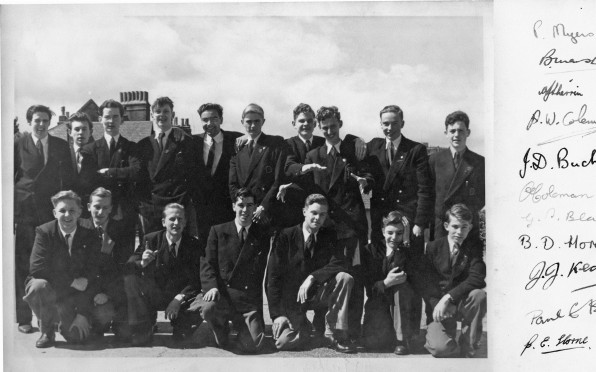 David, back row fourth from right, with 1955 leavers