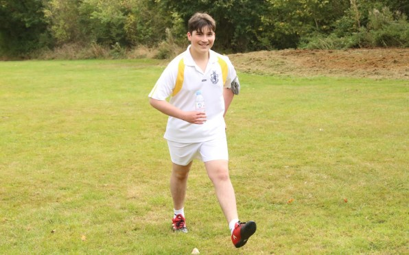 Setting the example: Joshua at the 2019 JLS Cross Country