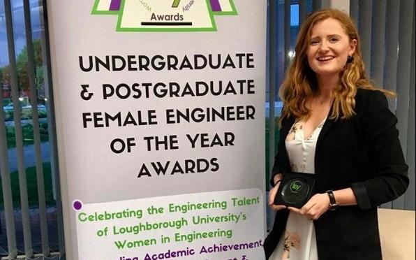 Hannah Langridge Winning Her Award