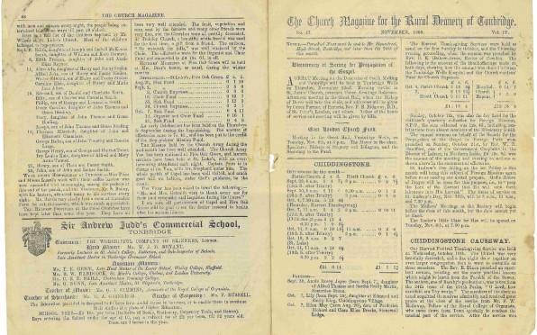 The Church Magazine for the Rural Deanery of Tonbridge - November 1900