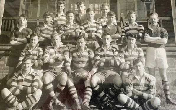 1954-55 First Team - outside the cricket pavilion