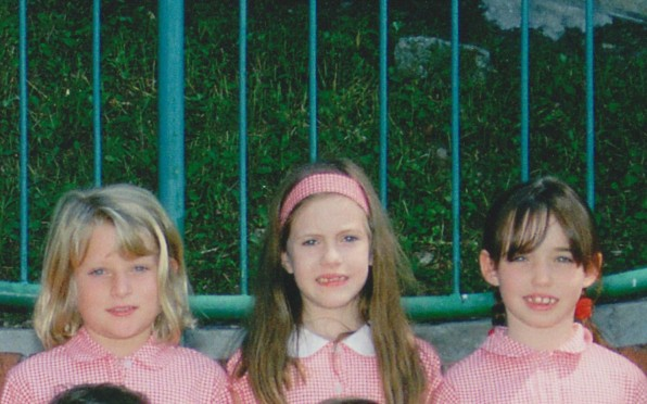 Lillian Armstrong (middle) P3 Class photo,