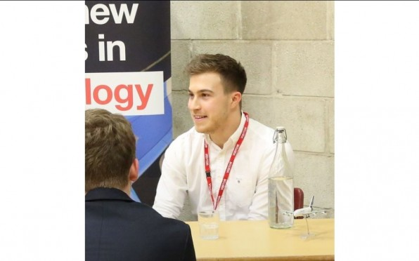 Callum talking to Sixth Formers at the 2020 Careers Convention