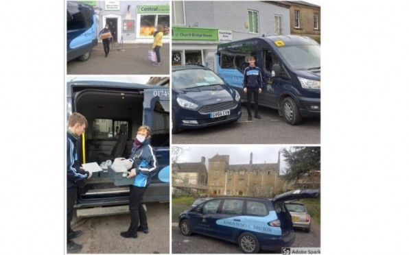 Mrs Vigers-Belgeonne delivering food parcels to those living in and around the Bruton area