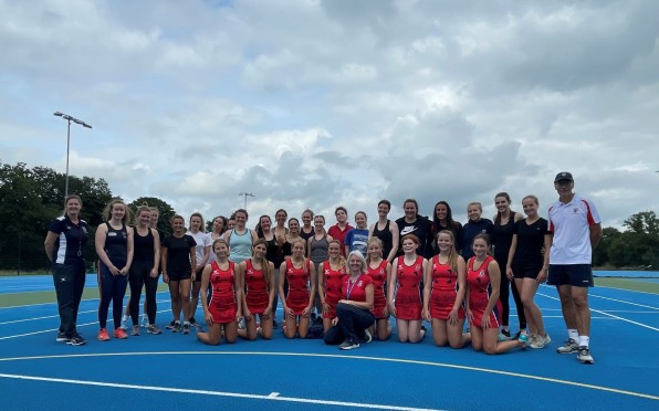 Former Pupil's netball teams and rugby team