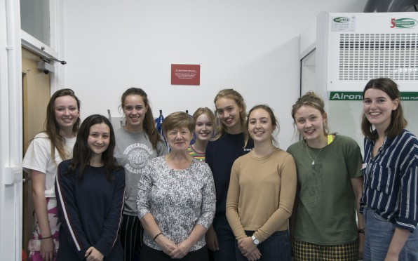 Ruth Parker with LEH Sixth Form Students