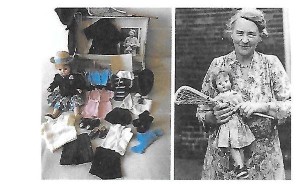Felicity Mary's wardrobe and Felicity Mary with Headmistress, Osyth Potts