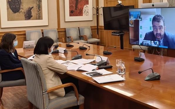 Carolina Darias, Ministra de Sanidad, con el Foro Español de Pacientes (19/2/2021)
