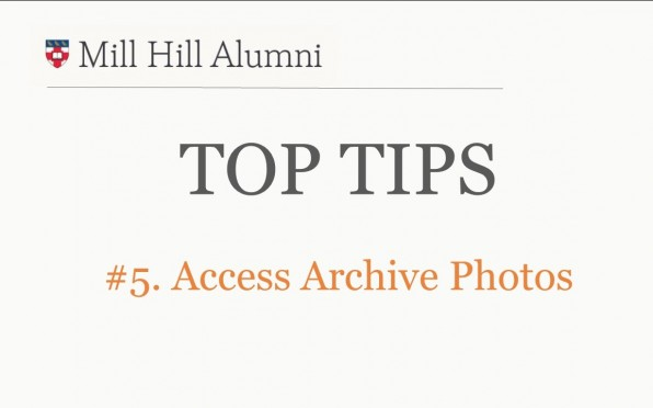 story image for Top Tips 5 - Access archive photos