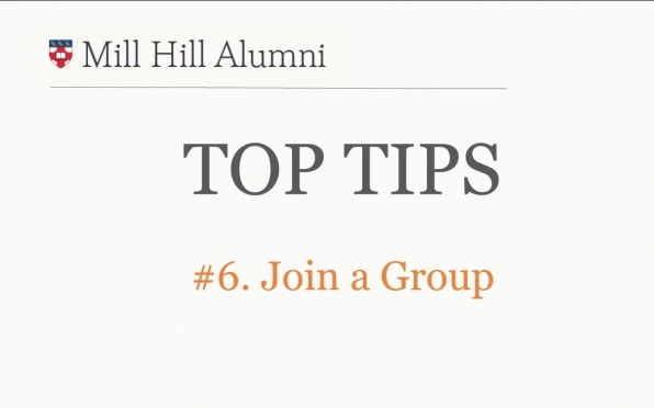 story image for Top Tips 6 - Join a Group