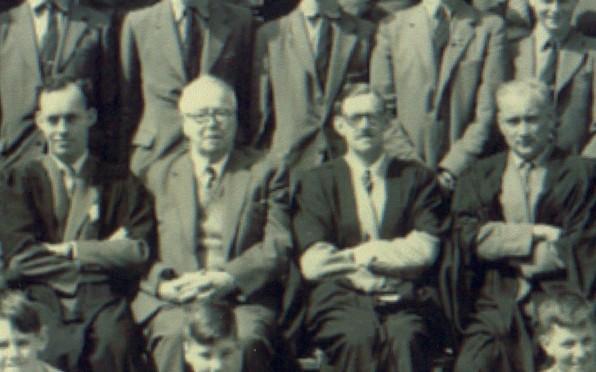 (L-R) J F Tilley, D G W Felton, Frankland, David Lewis