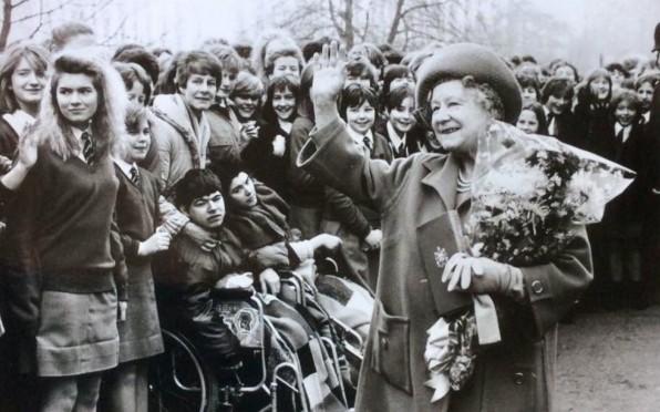 The Queen Mother in Albert Road 1985