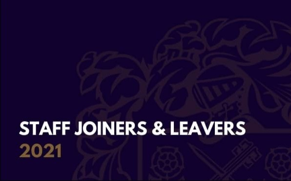 SWPS Staff Joiners & Leavers 2021