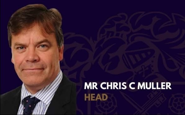 Mr Chris C Muller, Head of Sir William Perkins's School