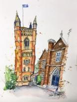 The Soaring Redbrick Tower Fine Art Print – A3