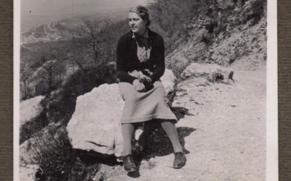 Miss Dickie, (Potts) in Assissi, Italy