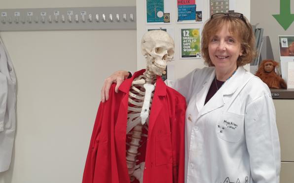 Jane Allen and the school skeleton