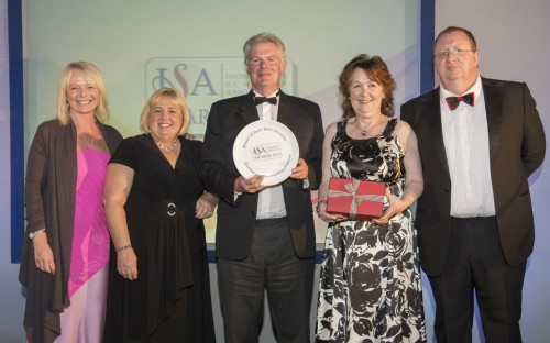 Headmaster Jonathan Cramb and the Early Years Team receiving their award!
