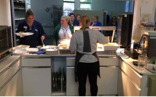 Lunch service to NHS staff