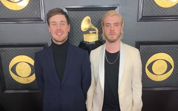 Josh Grimmett on the Red Carpet at at the Grammys
