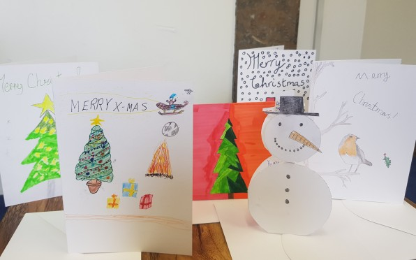 Christmas Cards designed by Year 7 & 8 students