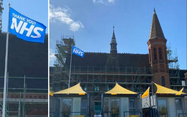 NHS Flags at Reading School