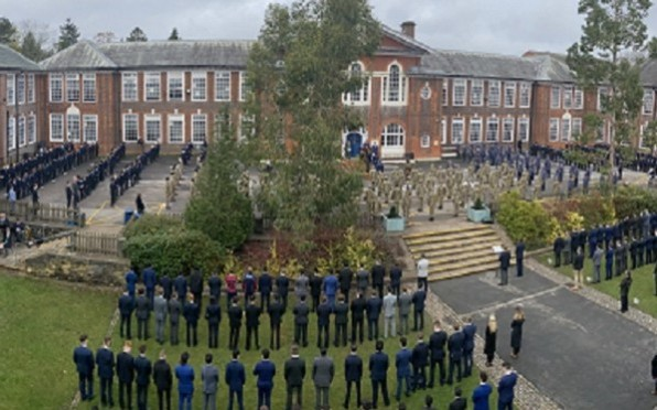 The CCF, Y13s and Y7s in the Quad