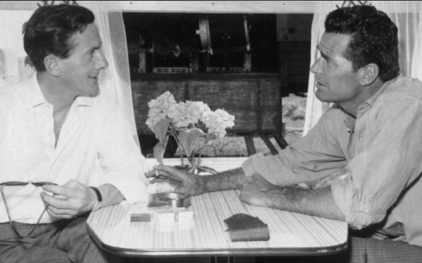 Bryan interviewing the actor James Garner in the 1950s