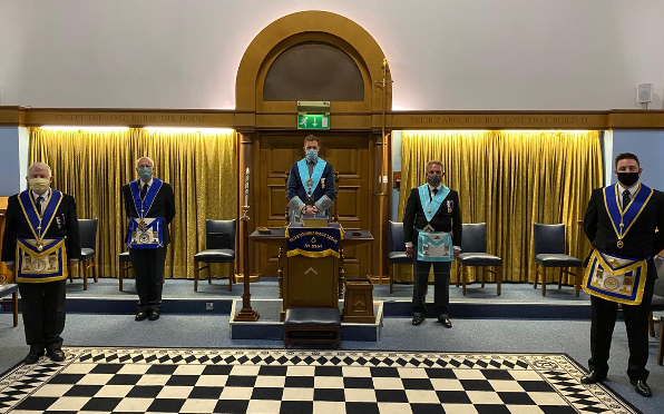 COVID-secure Lodge meeting.