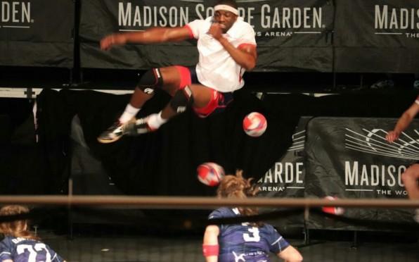 Steve flying high at Madison Square Gardens