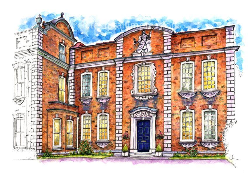 A3 Print Britannia House AO Blue Door