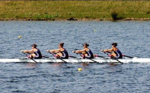 GB Rowers race in the 2012 Olympics